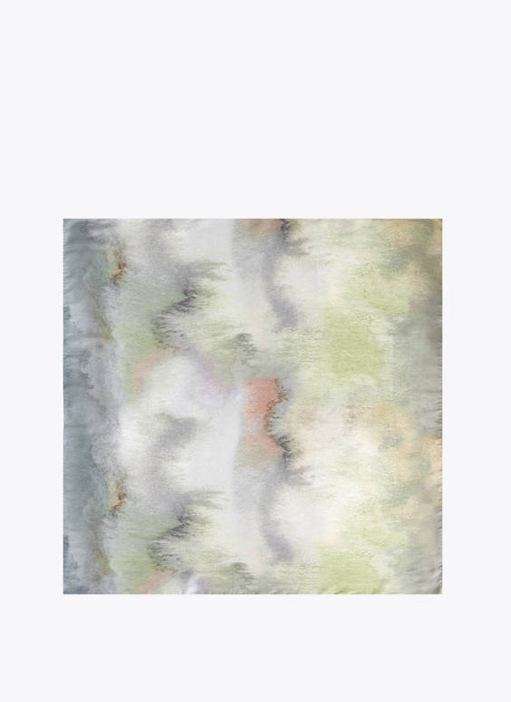 Watercolour foulard scarf
