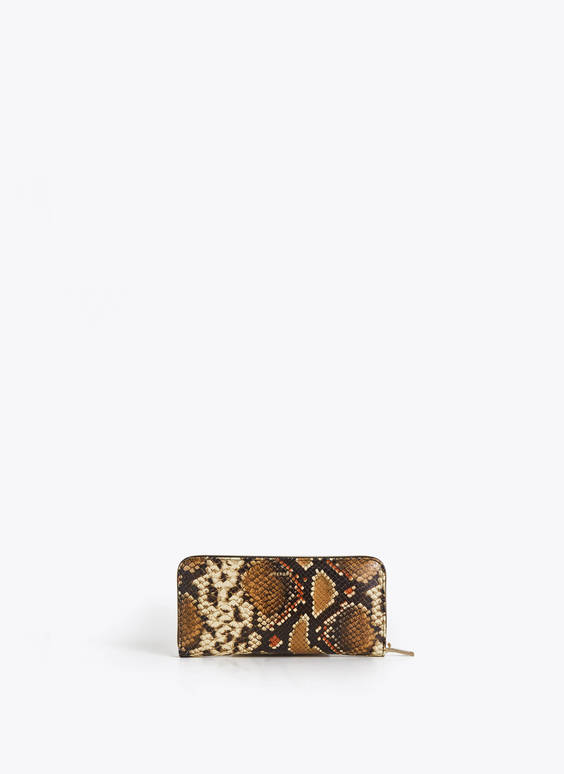 70s embossed snakeskin wallet