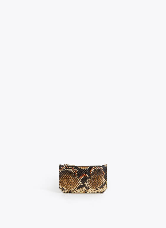 Snakeskin card holder
