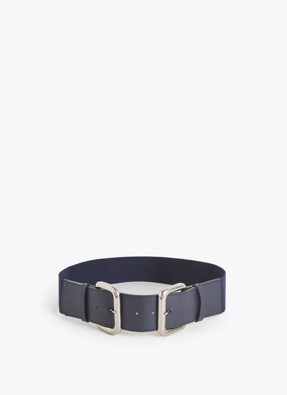 Stretch double buckle belt
