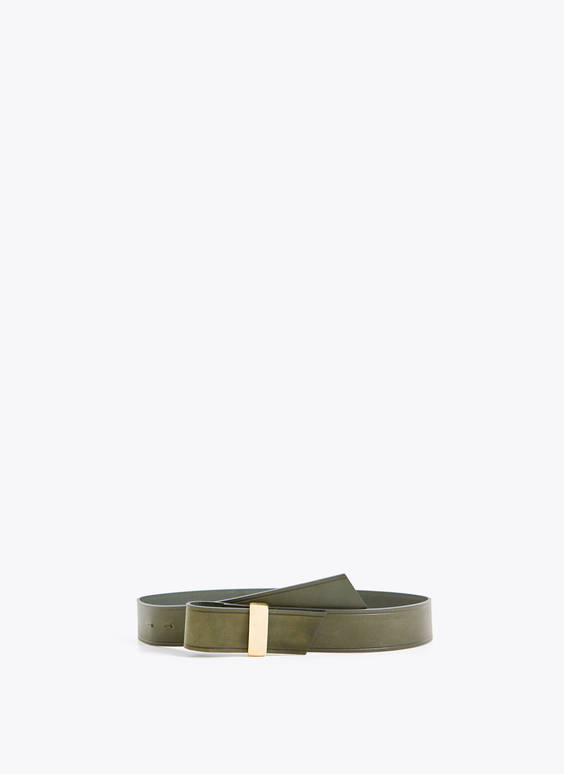 Belt with metal loop