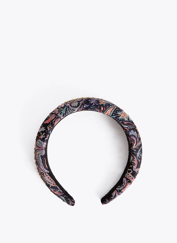 Printed embellished headband