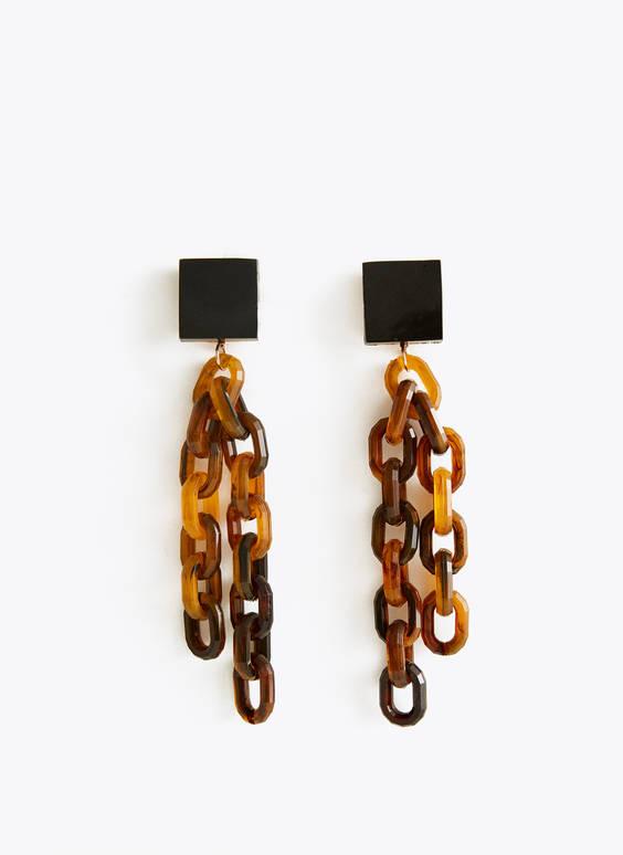 Σκουλαρίκια με αλυσίδες από ταρταρούγα