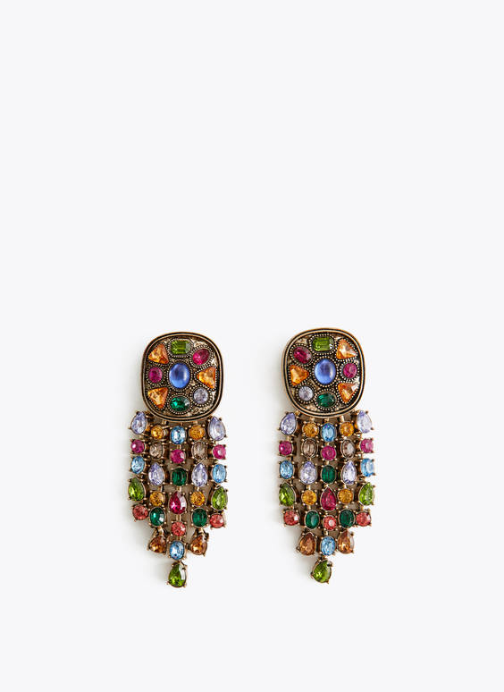 Multicoloured earrings