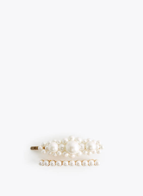 Pack of pearl-effect hair grips