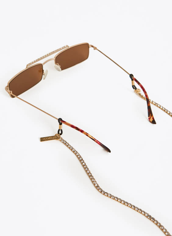 Bejewelled sunglasses chain