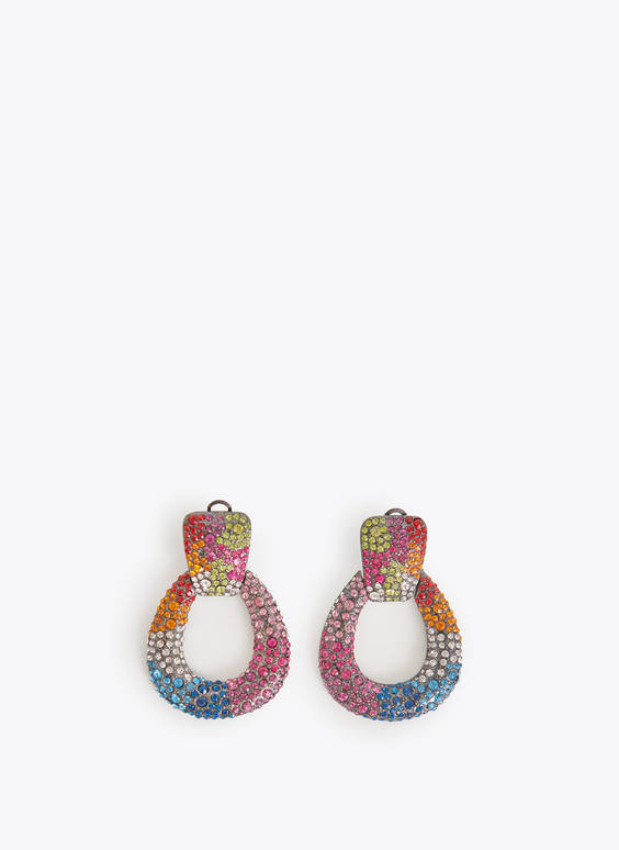 Multicoloured teardrop earrings