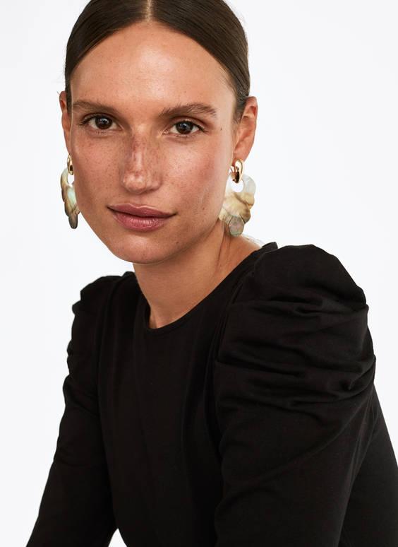 Σκουλαρίκια από περλέ φύλλο