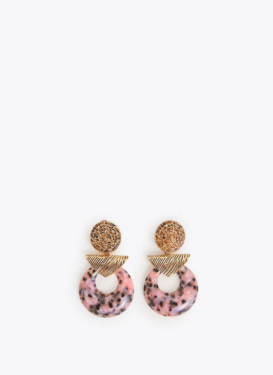 Pink tortoiseshell earrings