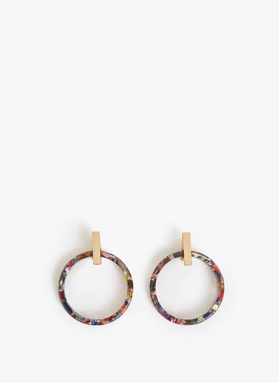 Multi-tortoiseshell hoop earrings