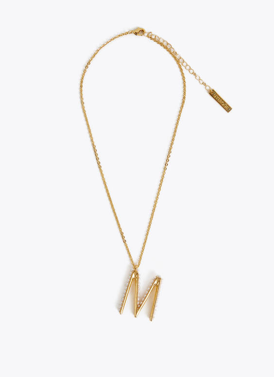 24k gold-plated letter necklace