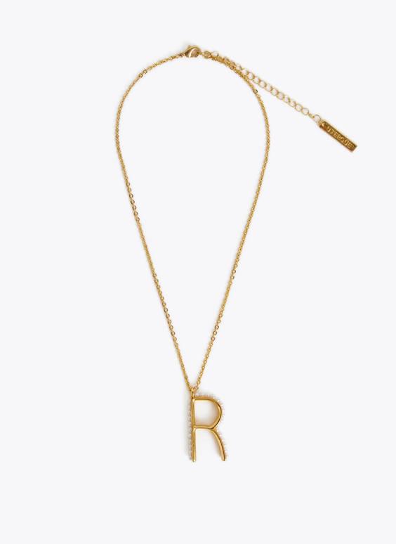 Halskette mit Buchstaben mit 24k-Goldüberzug