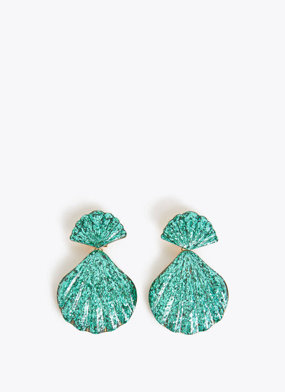 Glittery shell earrings