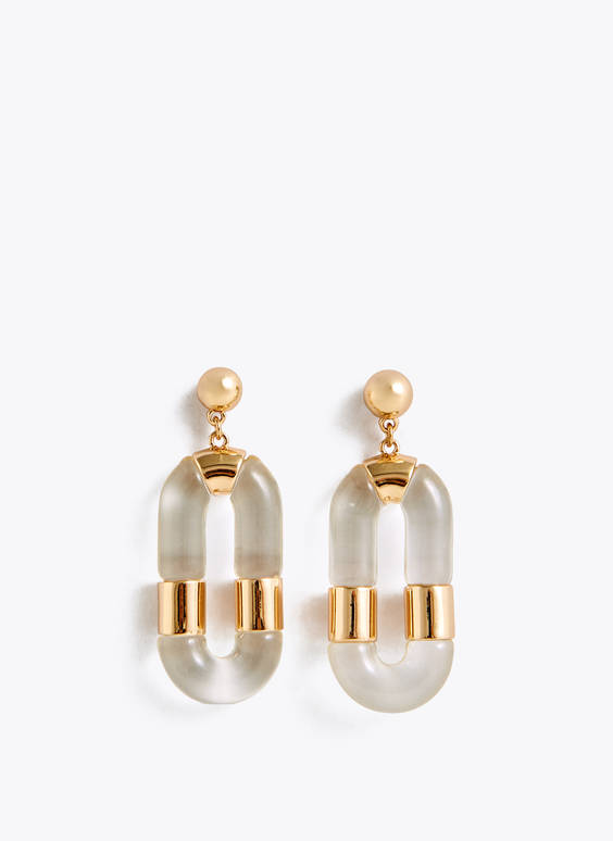 Transparent link earrings