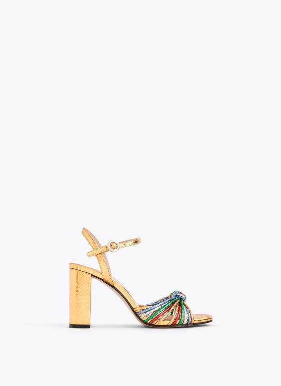 Pestrofarebné laminované sandále