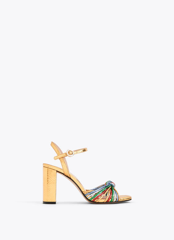 Multicoloured laminated sandals