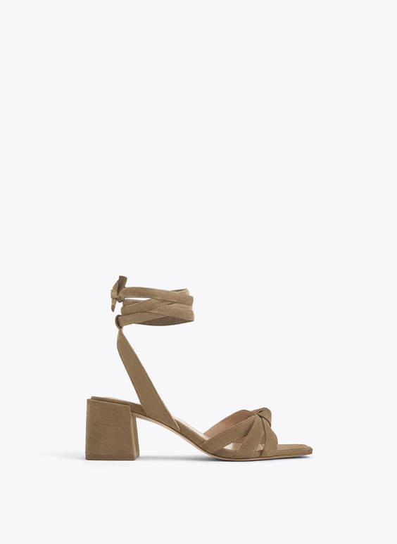 Suede strappy sandals