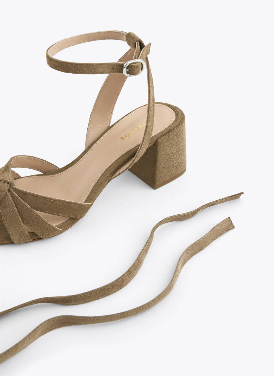 d1d03e67f2 Suede strappy sandals
