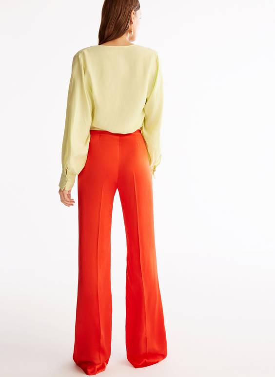 Pantalon palazzo orange