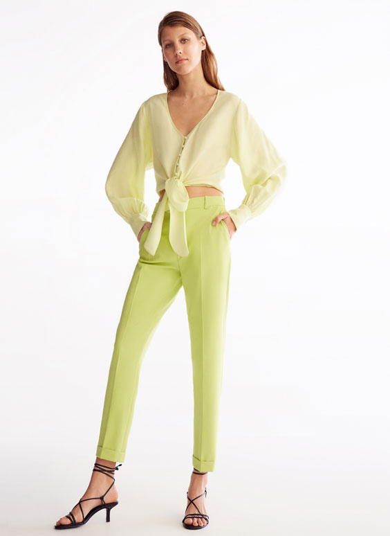 Lime green trousers