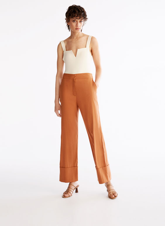Copper trousers