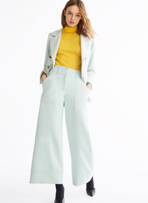 Aquamarine trousers