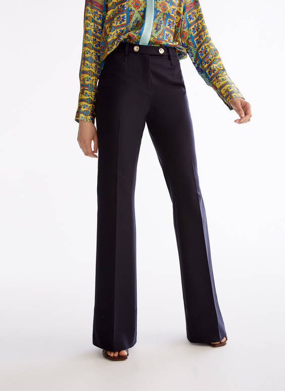 Smart straight-leg trousers