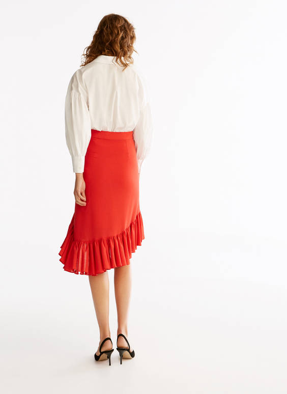 Multi-ruffle skirt