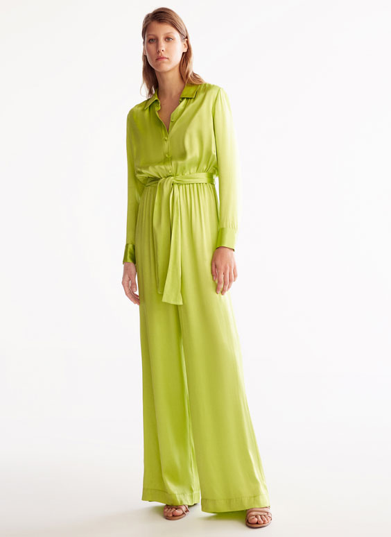 Jumpsuit in Limettengrün