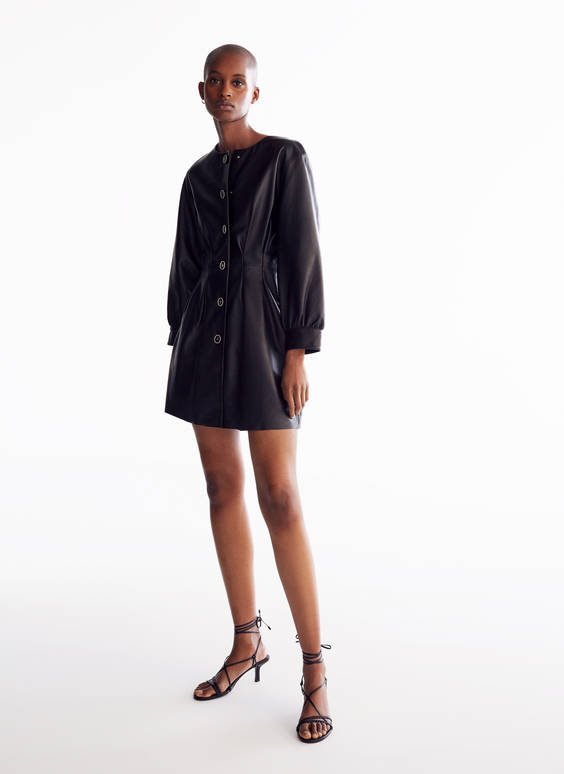 Darted overshirt - dress