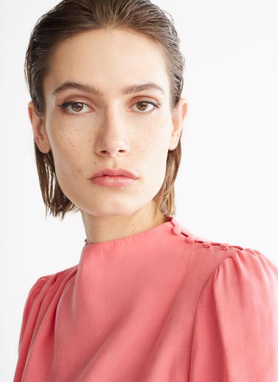 Cămașă roz din modal