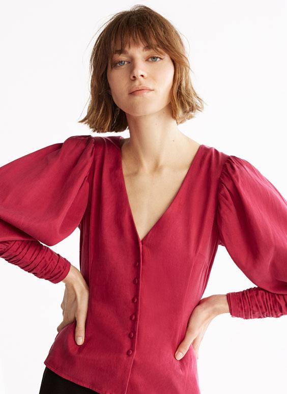 Pink cupro shirt