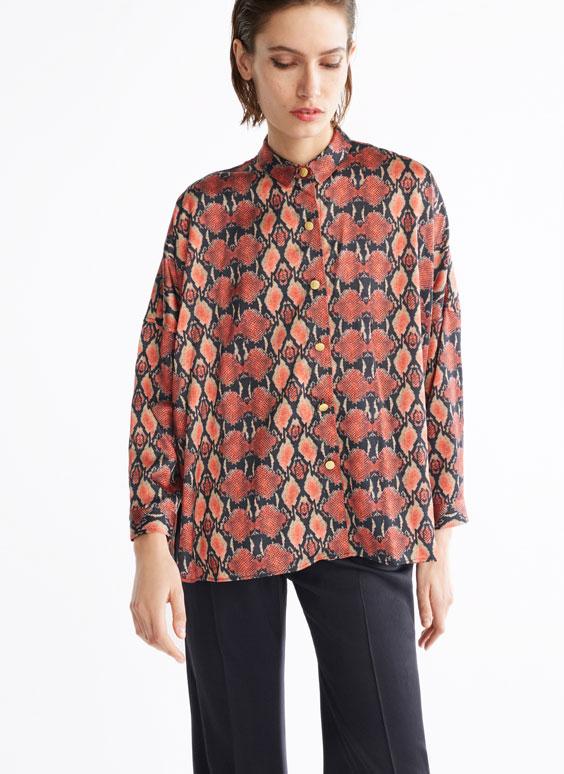 蛇纹印花衬衫
