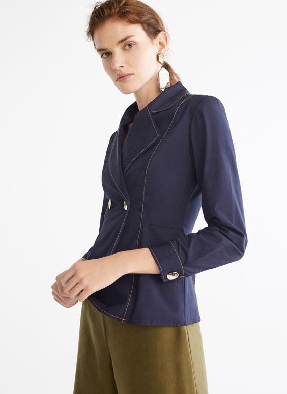 Hemd im Blazer-Stil