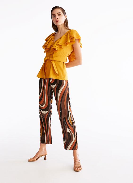 Mustard linen shirt