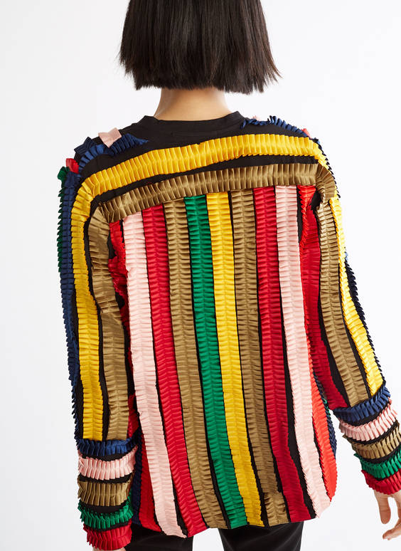 Multicoloured ruffle jacket