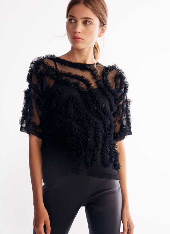 Top with frill details