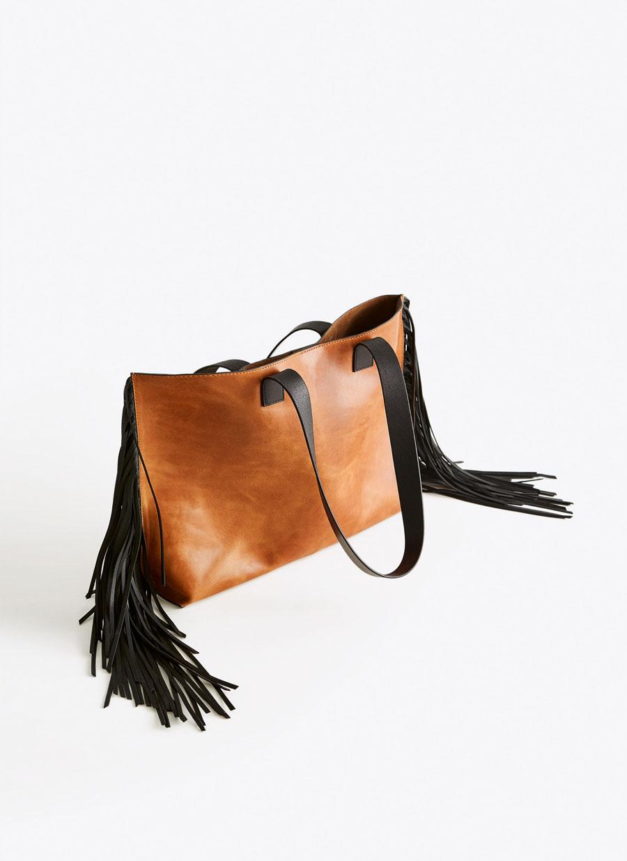 79e933136 Fringe tote bag - - Uterqüe Spain