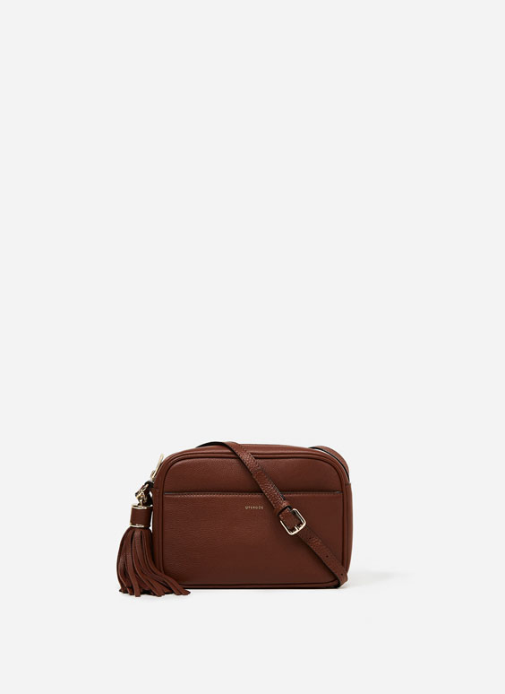 Smooth leather crossbody bag