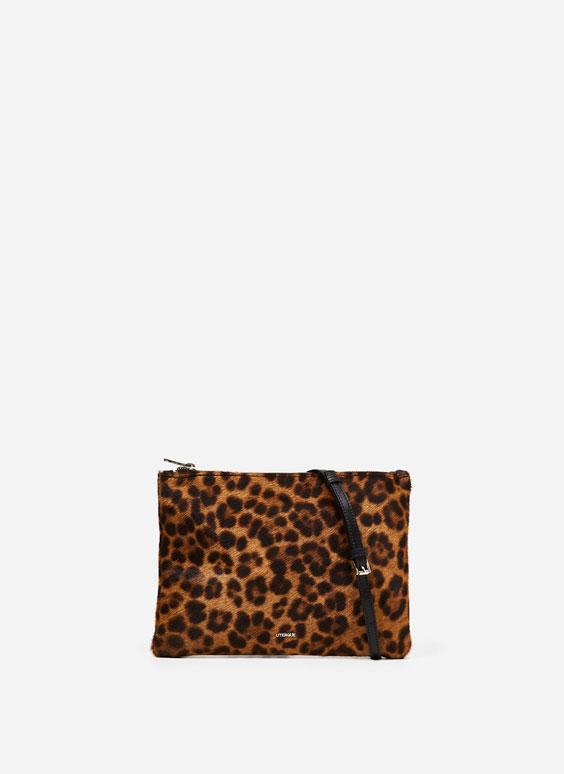 Leopard print crossbody bag