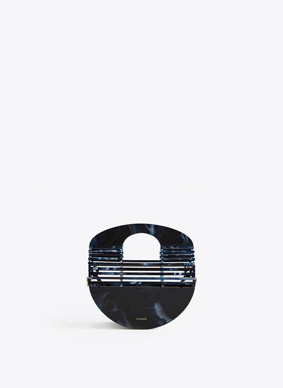 Half-moon handbag