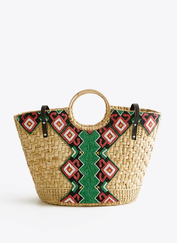 Bolso shopper bordado