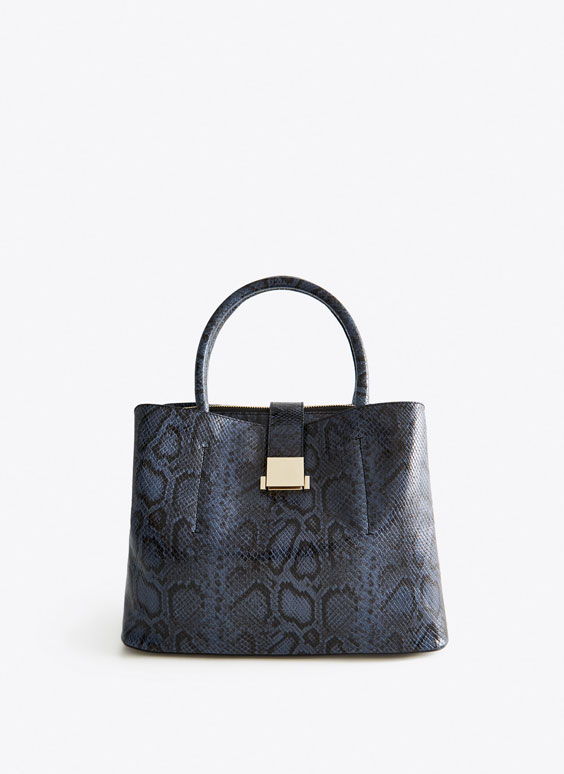 Bolso shopper serpiente