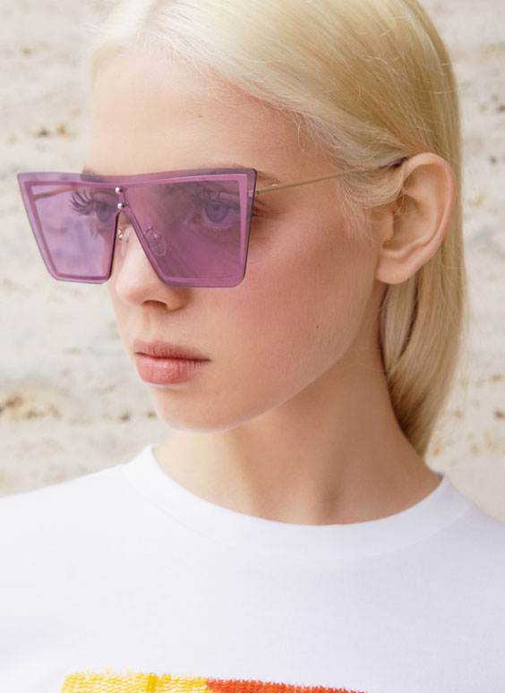 Invisible frame sunglasses