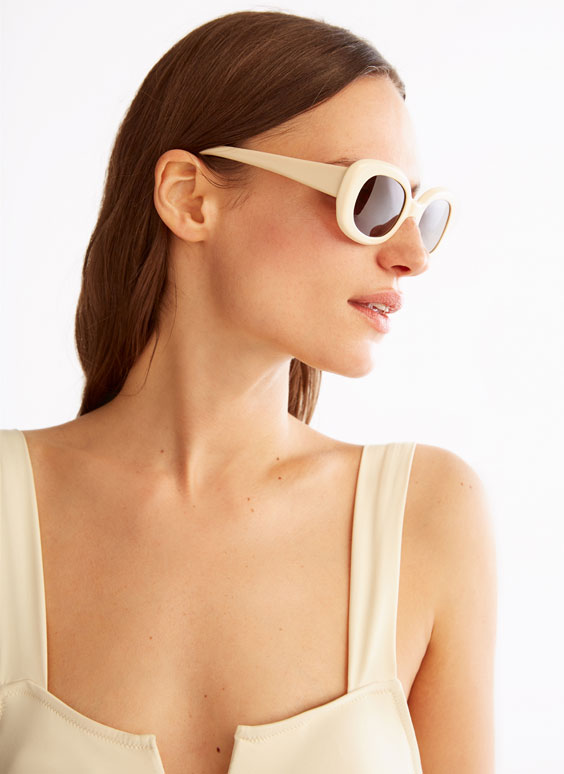 Cream sunglasses