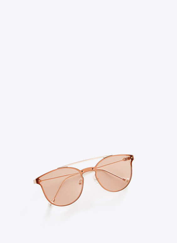 Pearly metal sunglasses