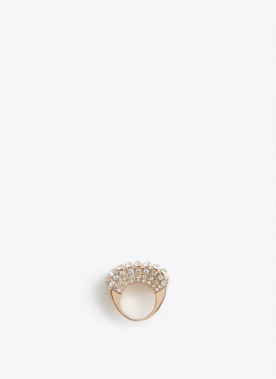 White bejewelled ring