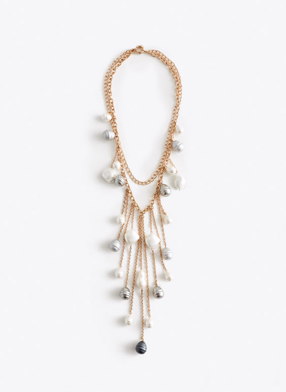 Collier multi-perles