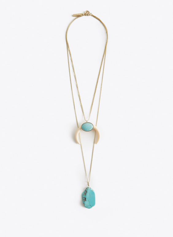 Turquoise double-strand necklace