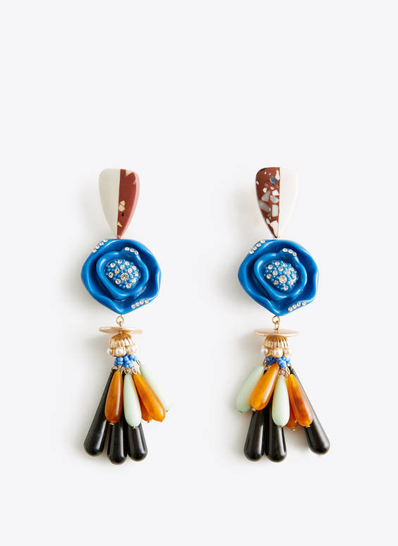 Coloured earrings